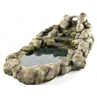 园艺水池3d模型