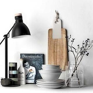 北欧厨房摆设3d模型