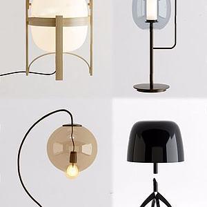 现代金属台灯模型