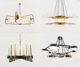 后现代吊灯组合3D模型