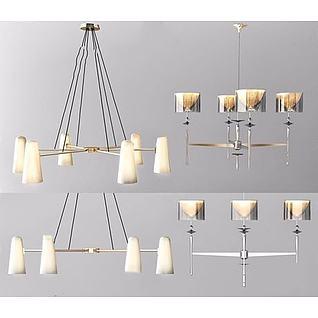 现代高档吊灯3d模型