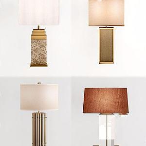 现代台灯模型
