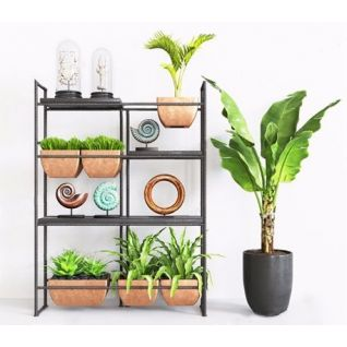 花架盆栽组合3d模型