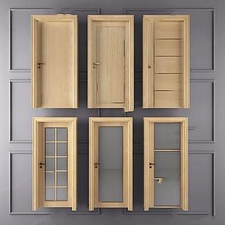 木色门3d模型