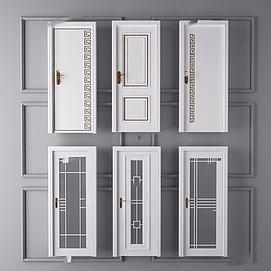 白色门3d模型
