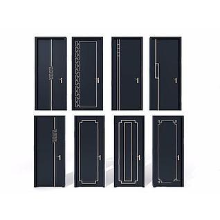 黑色门3d模型