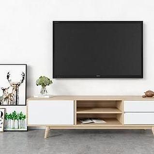 北欧电视柜3d模型