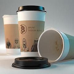 3D咖啡紙杯模型