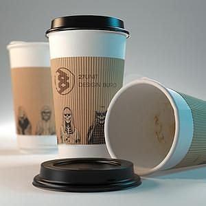 咖啡纸杯模型3d模型