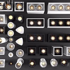 各种筒灯模型