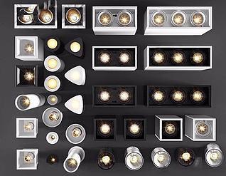 各种筒灯3d模型3d模型
