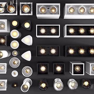 各种筒灯3d模型