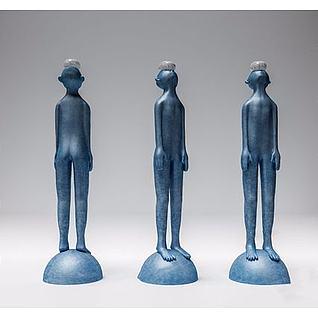 现代人物雕塑3d模型3d模型