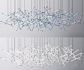 大型工装吊灯3D模型