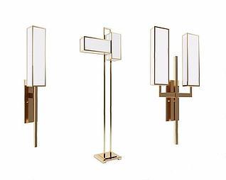 新中式壁灯模型3d模型