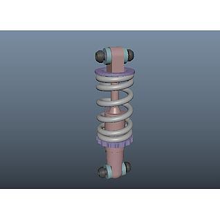 减震器3d模型