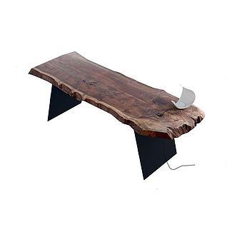 老船木桌子3d模型3d模型