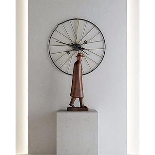 人物雕塑摆件3d模型