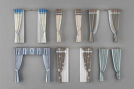 罗马杆窗帘模型