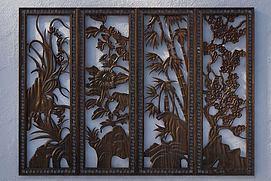 梅兰竹菊木雕模型