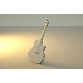 吉他3d模型3d模型