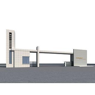 工厂门头3d模型