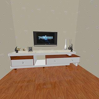 简约电视柜3d模型