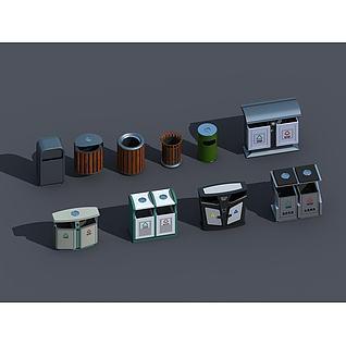 垃圾箱3d模型