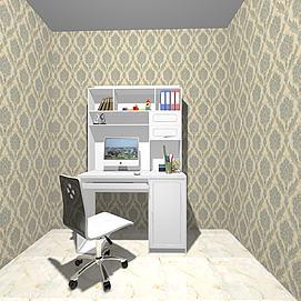 电脑桌模型