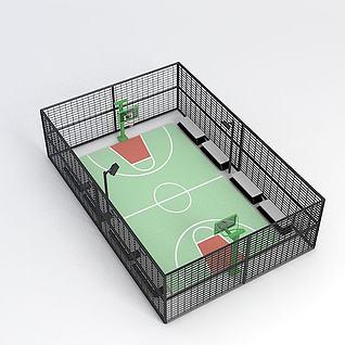 室内篮球场3d模型3d模型