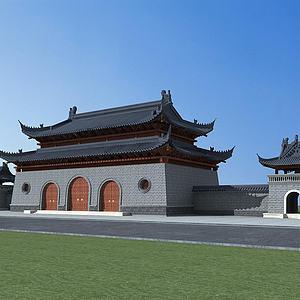 古建城樓模型3d模型