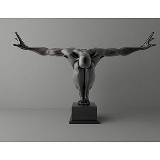 艺术雕塑摆件3d模型