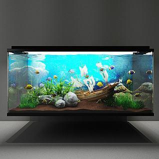 鱼缸3d模型