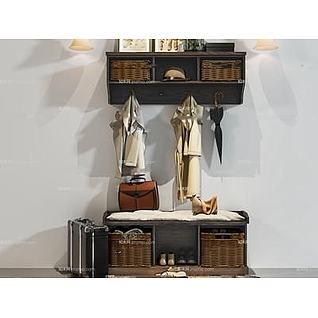 玄关收纳柜3d模型