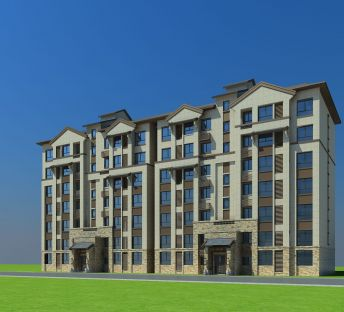 新中式多层住宅楼