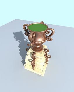 花钵3d模型