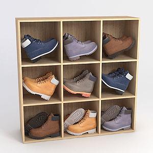 鞋架马丁靴模型
