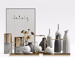 花瓶摆件装饰品模型3d模型