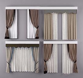 双层窗帘模型