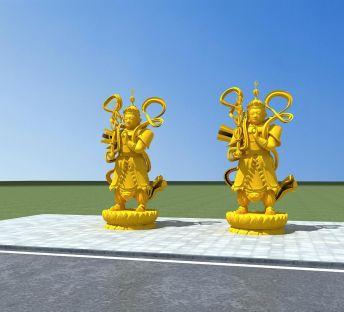 托塔天王雕塑