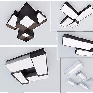 现代吸顶灯模型