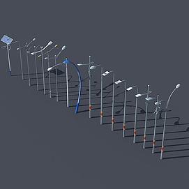 高杆灯路灯模型