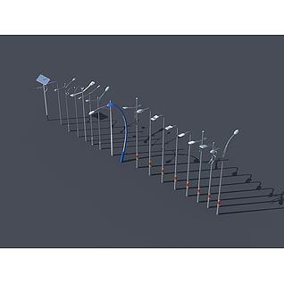高杆灯路灯3d模型3d模型