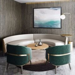 环形卡座沙发模型3d模型