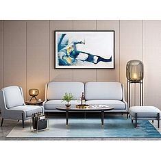 中式沙发茶几3D模型3d模型