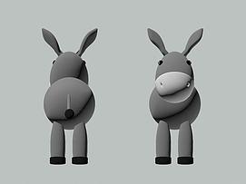 小毛驴模型
