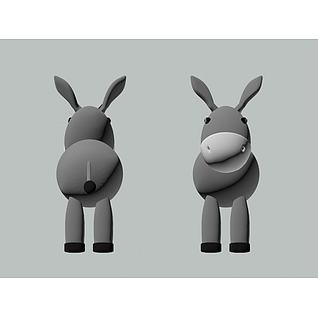 小毛驴3d模型