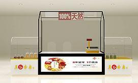 商场食品区展示柜模型