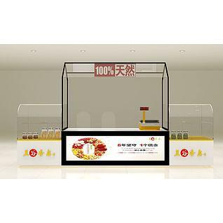 商场食品区展示柜3d模型