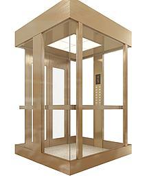 拉丝不锈钢观光电梯模型